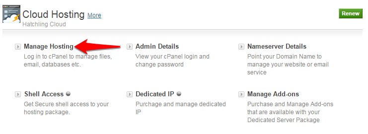 How to Access Cpanel & Manage Cloud Hosting Order   KnowledgeBase